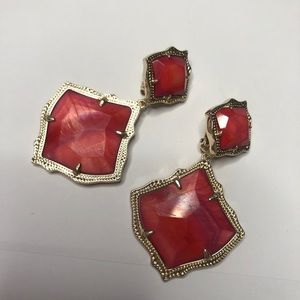 Kendra Scott Prototype Red Mother of Pearl ClipOns